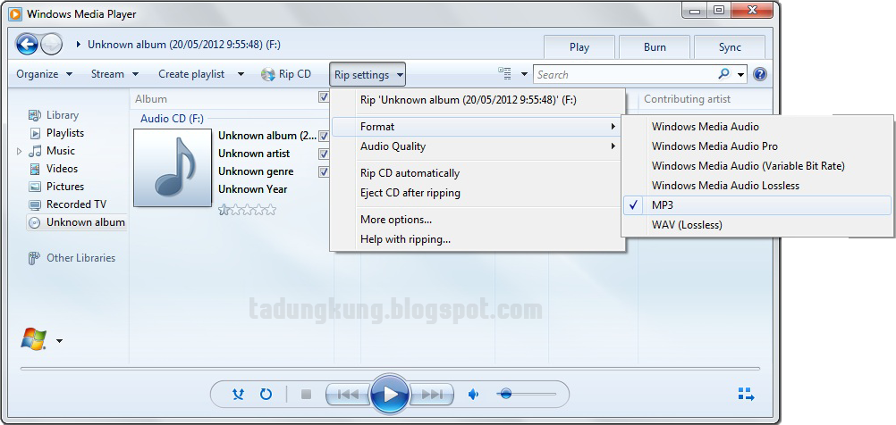 how to play a cda audio file