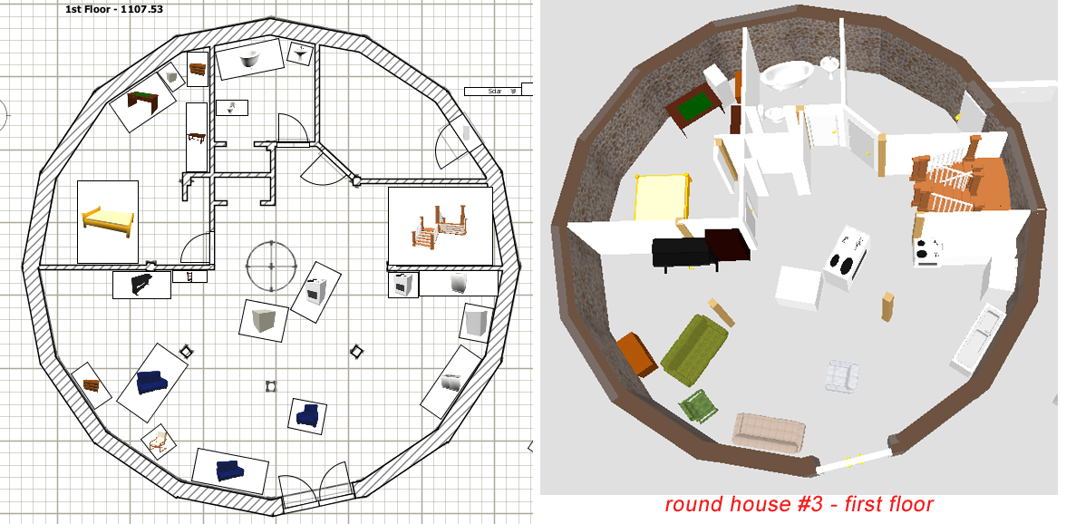 Stone table farm house plans the great unveiling for Round home plans