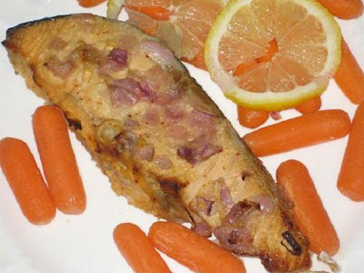 baked salmon with mustard