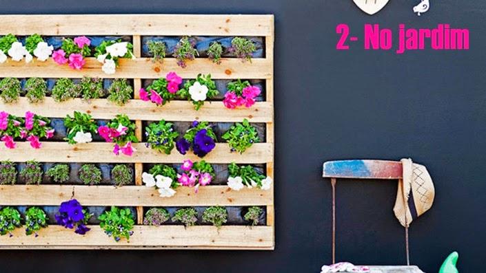 jardim vertical pallet:Decoração com Paletes!