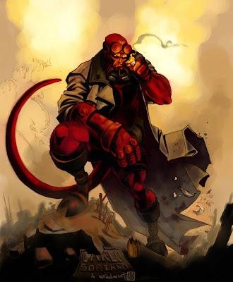 Imagen de Hellboy por Carlo Soriano