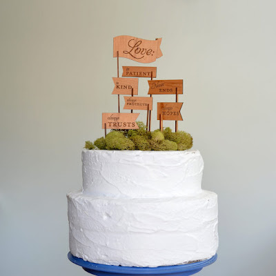 Wedding Cake Topper, Design, Modern Cake Topper, Love is patient