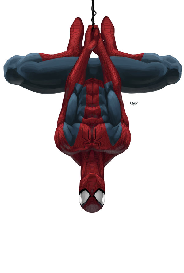 Spider-Man up side down