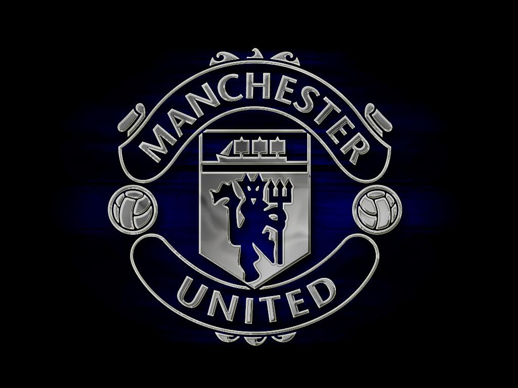 Dark edition of manchester united logo hd wallpaper