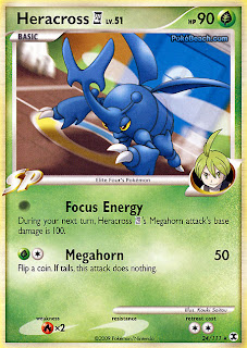 Heracross 4 Pokemon Card Rising Rivals set