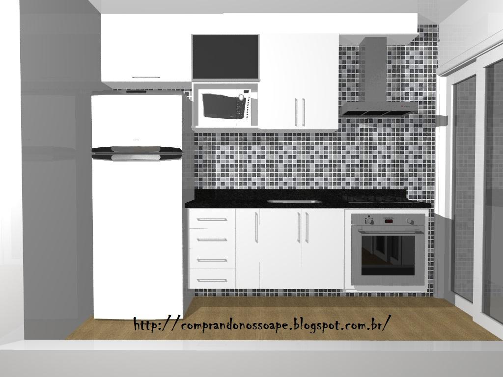 Este é o balcão da cozinha americana ficou com 4 portas. Depois que  #625238 1024 768