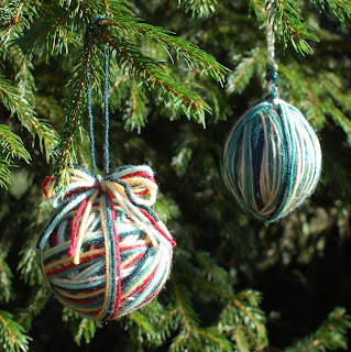 Yarn Ball Ornaments