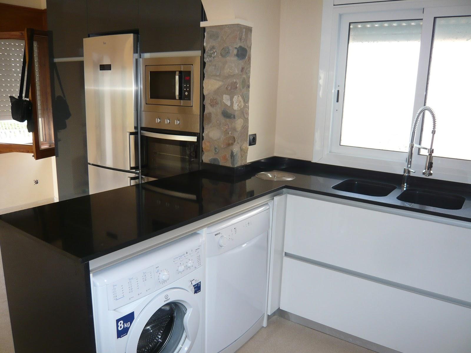 Reuscuina muebles de cocina sin tiradores con isla - Tiradores muebles ...