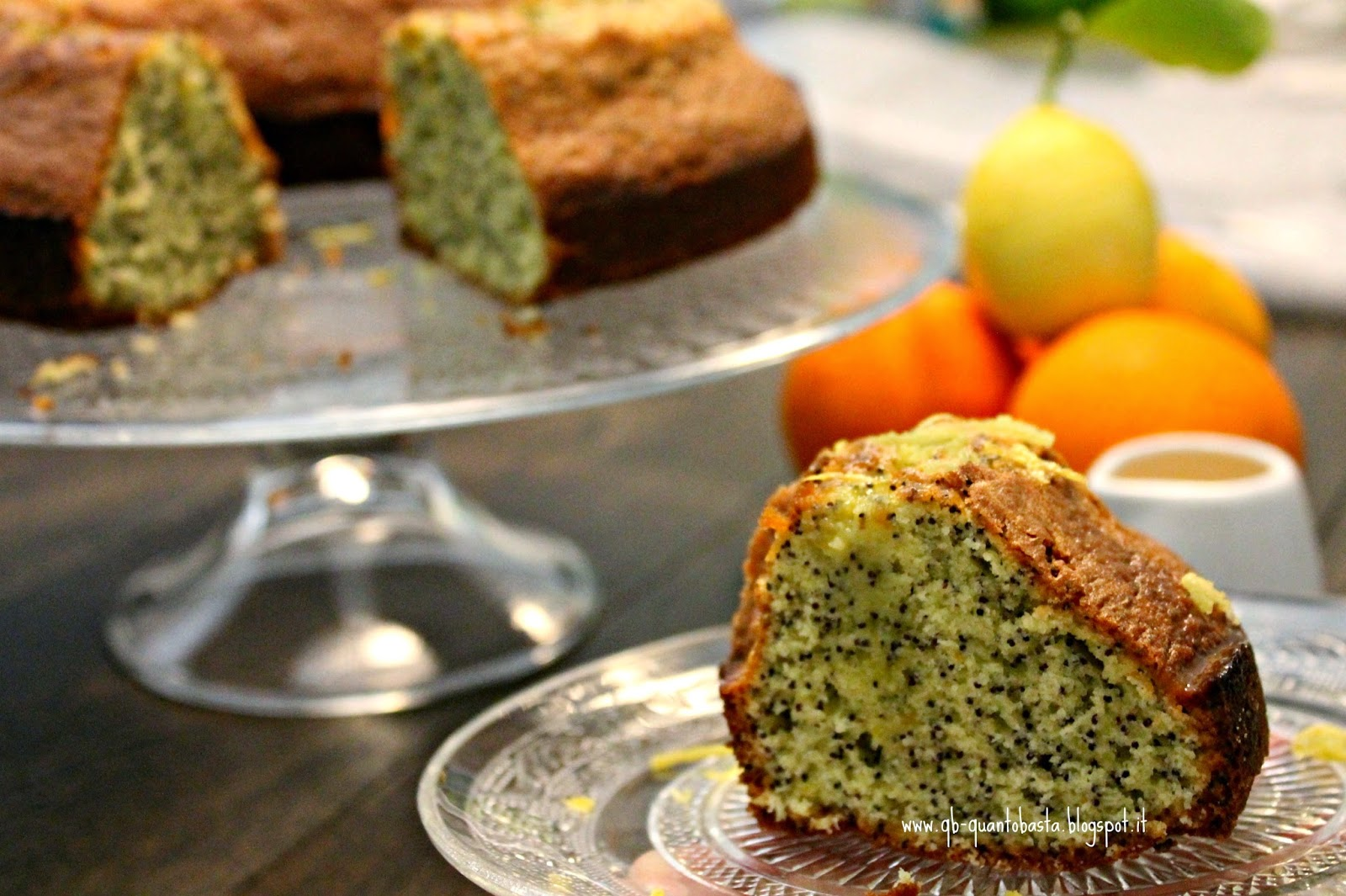 Q.b.-Quanto Basta.: Poppy Seed Citrus Cake - Torta ai semi di papavero