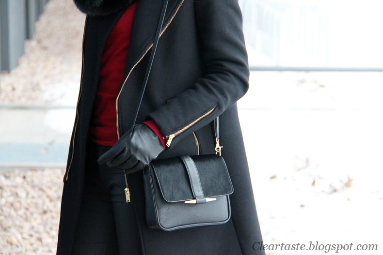 czarna torebka zara