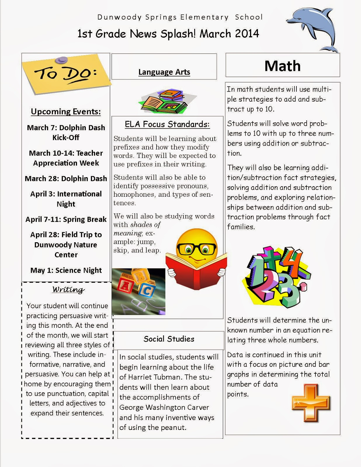 DSES First Grade Team: March Newsletter