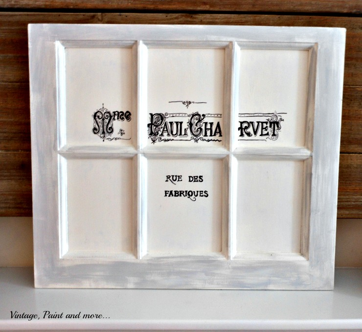 Vintage, Paint and more... French graphic window DIY'd on a budget