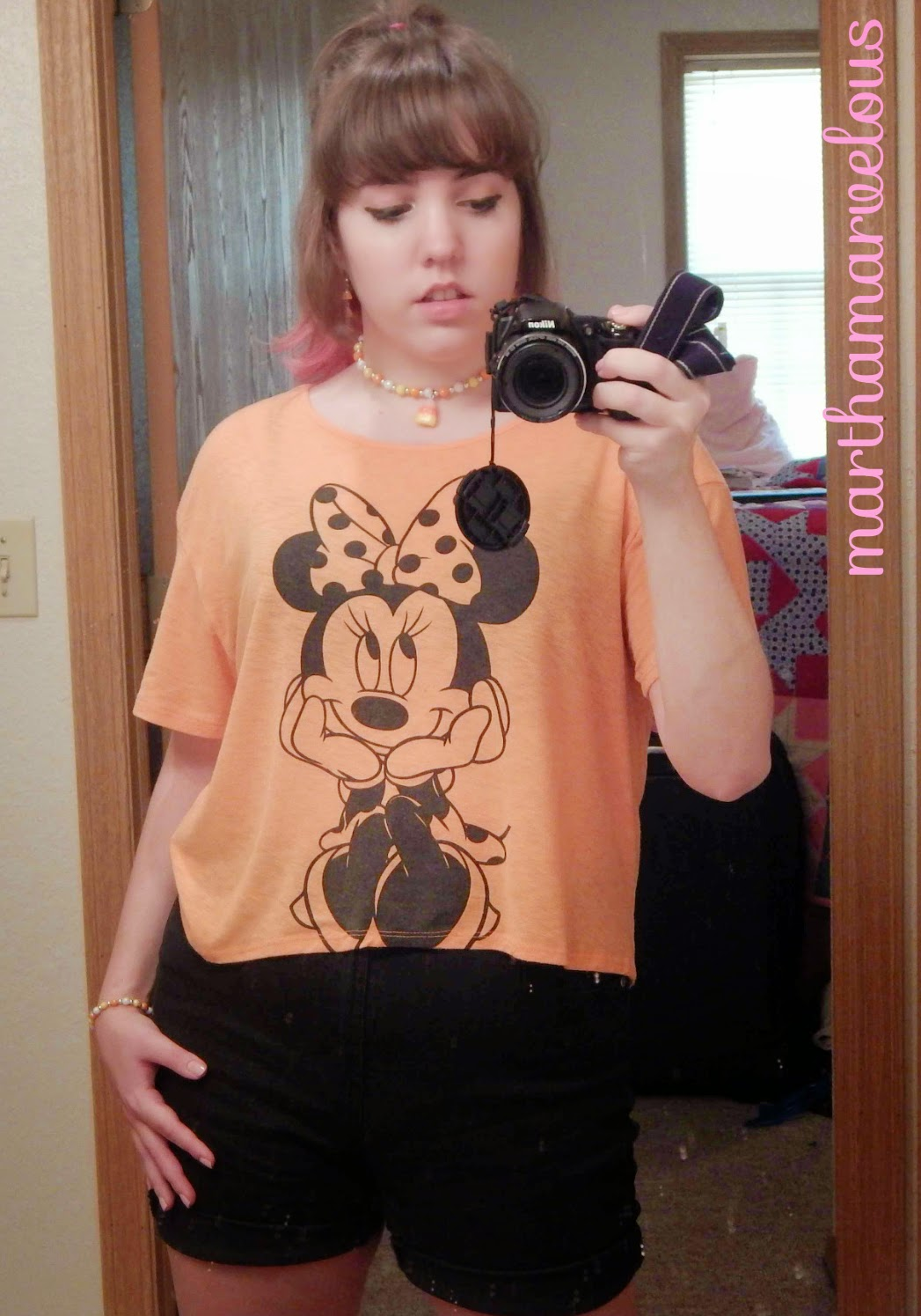 Martha Marvelous: Outfit: Orange and Black Candy Corn