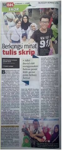 FEATURED IN BERITA HARIAN
