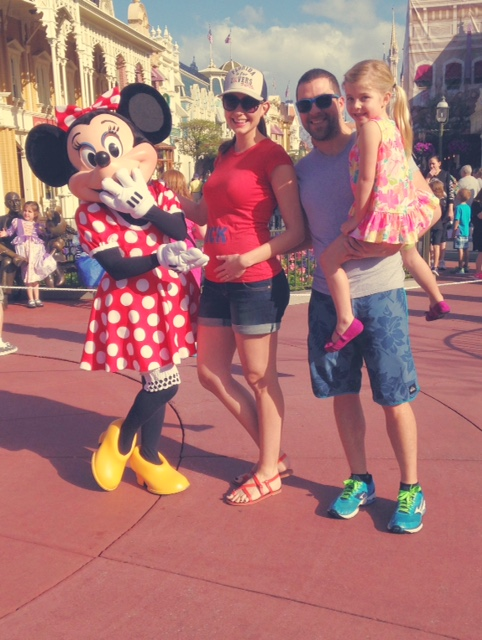 Amy West and family at Disney