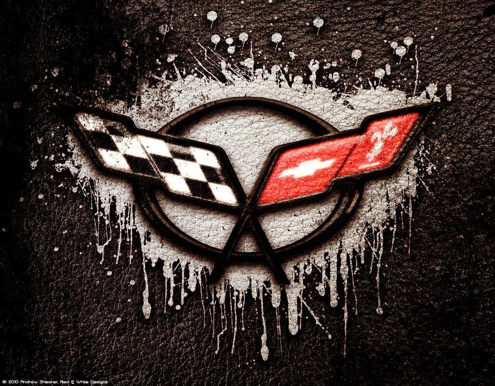 new car photo corvette logo wallpaper