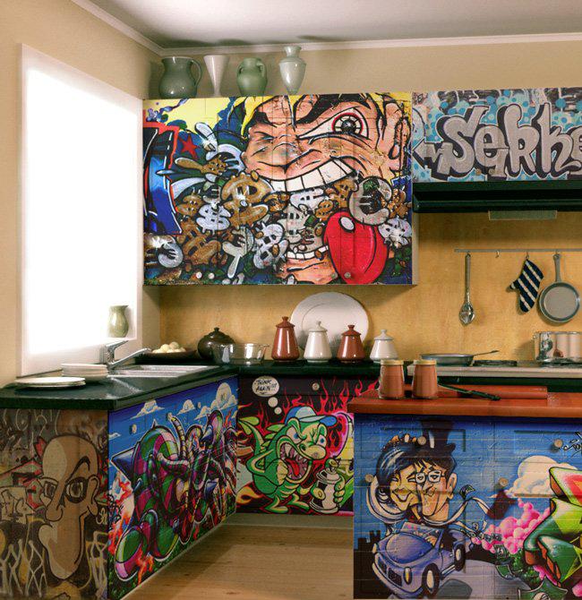 Graffiti art designs ideas in kitchen - Bedroom wall graffiti ideas ...