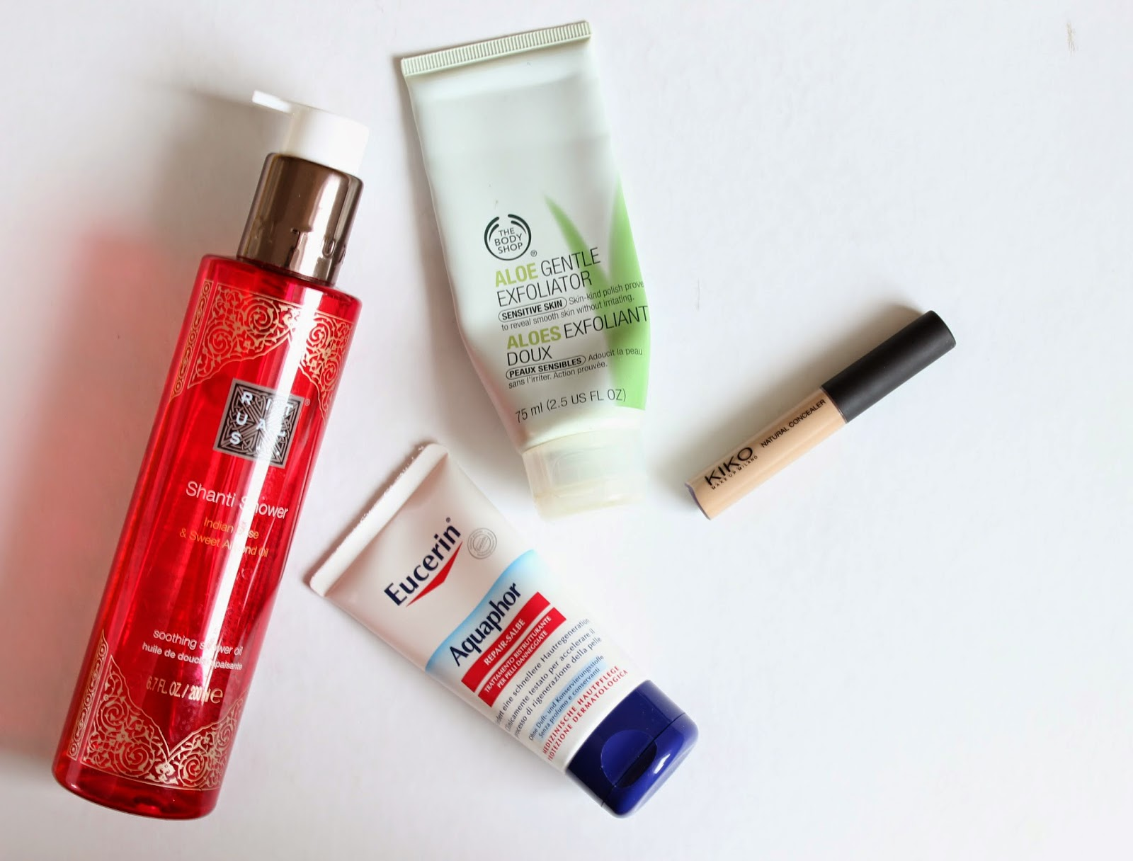 favourite beauty products rituals thebodyshop eucerin kiko