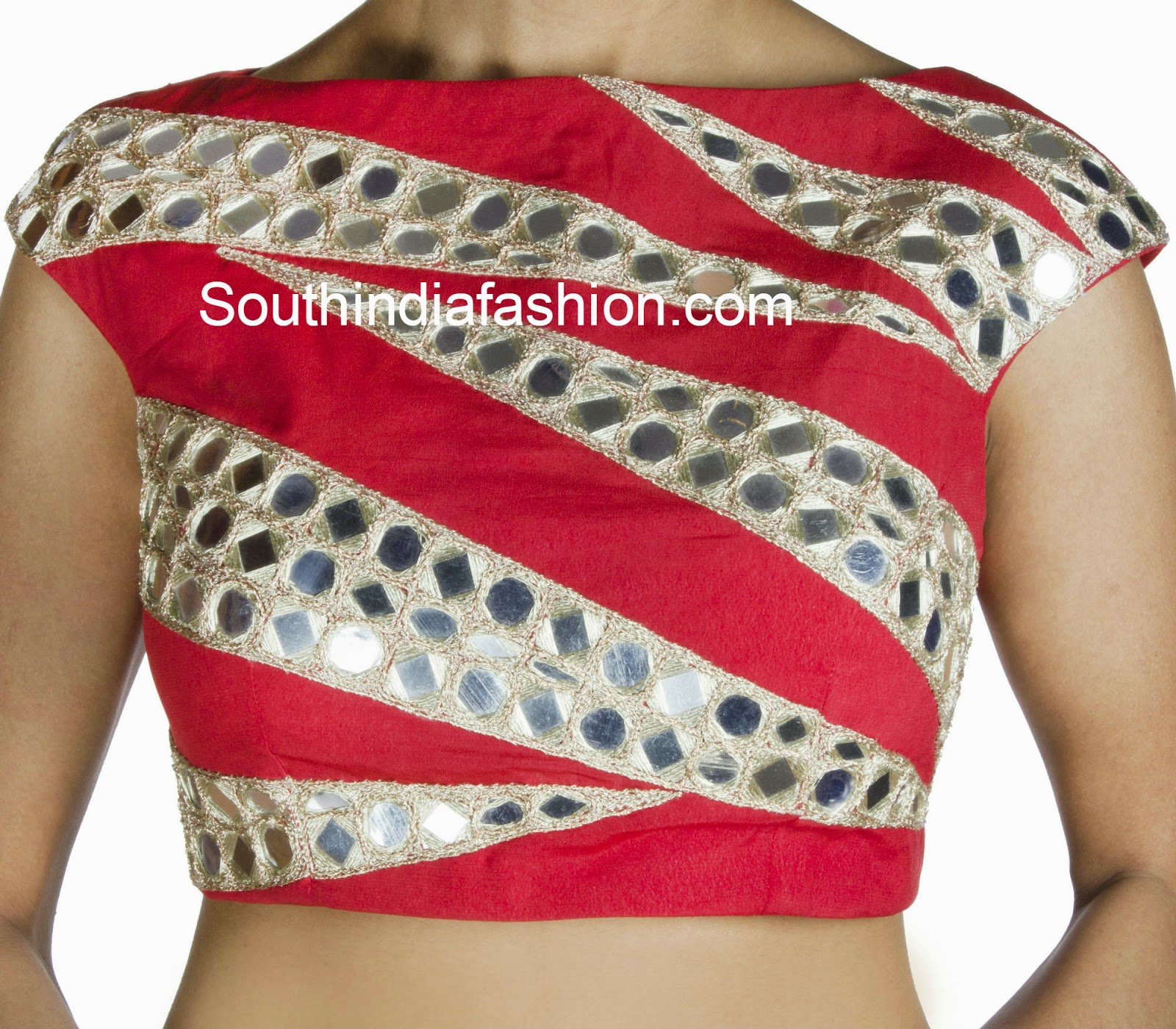 Glass Work Blouses Online 92