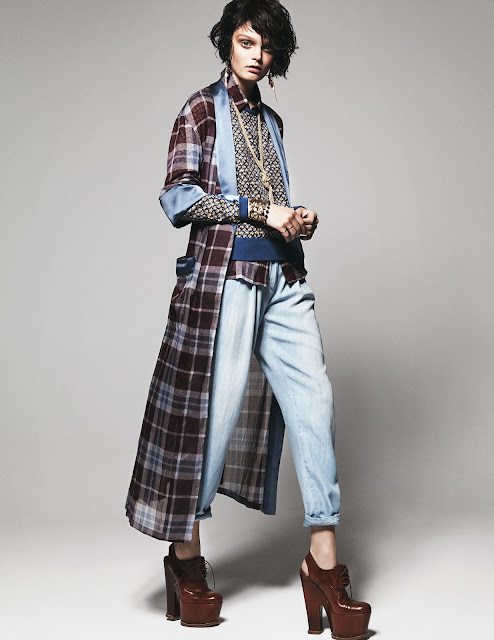 Plaid, Tartan, Robe, Style, Layering, Editorial, 2013, Style, Fashion, Platforms