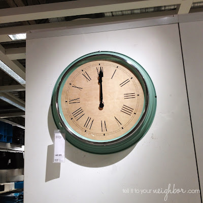 Kitchen clock, Ikea Skovel