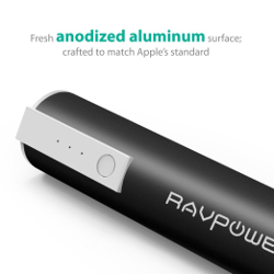 RAVPower Portable Charger 3350mAh External Battery Pack Power Bank (3rd Gen Luster Mini, iSmart Technology, Apple cables/adapters are not included)for Phones, Tablets and more