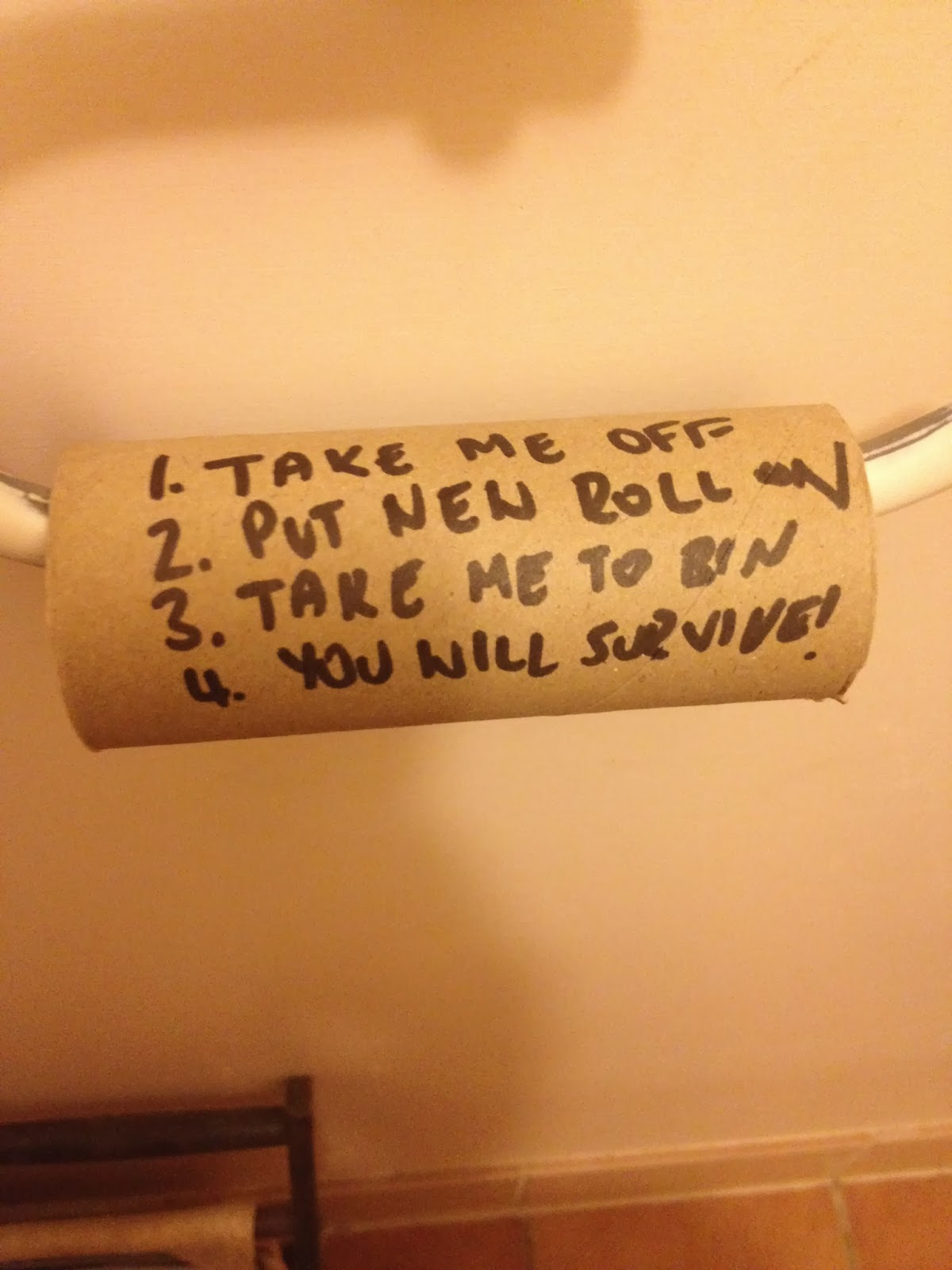 Toilet Roll Message