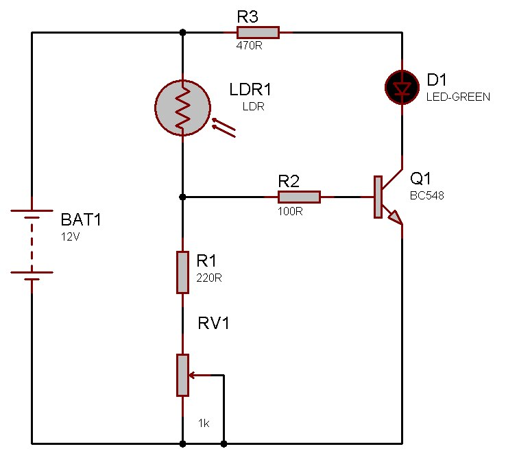 Circuito Ldr : Mundo eletronica circuito ldr baixa tensÃo