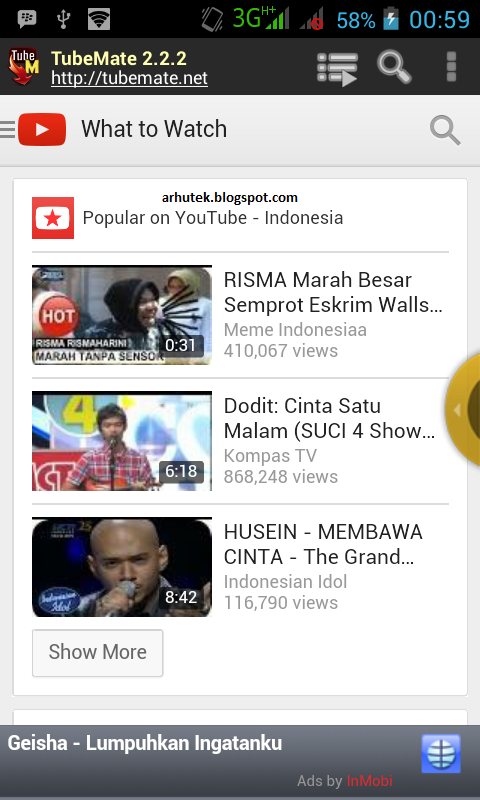 Download Video Youtube di Android (Review Tubemate)
