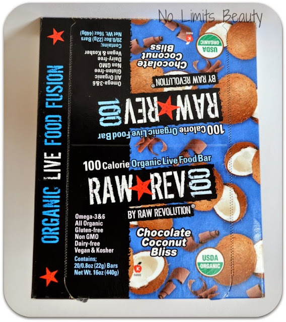 iHerb.com - Raw Revolution, Raw Rev 100, Organic Live Food Bar, Chocolate Coconut Bliss, 20 Bars