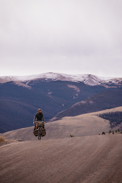 riding in the wyoming rockies