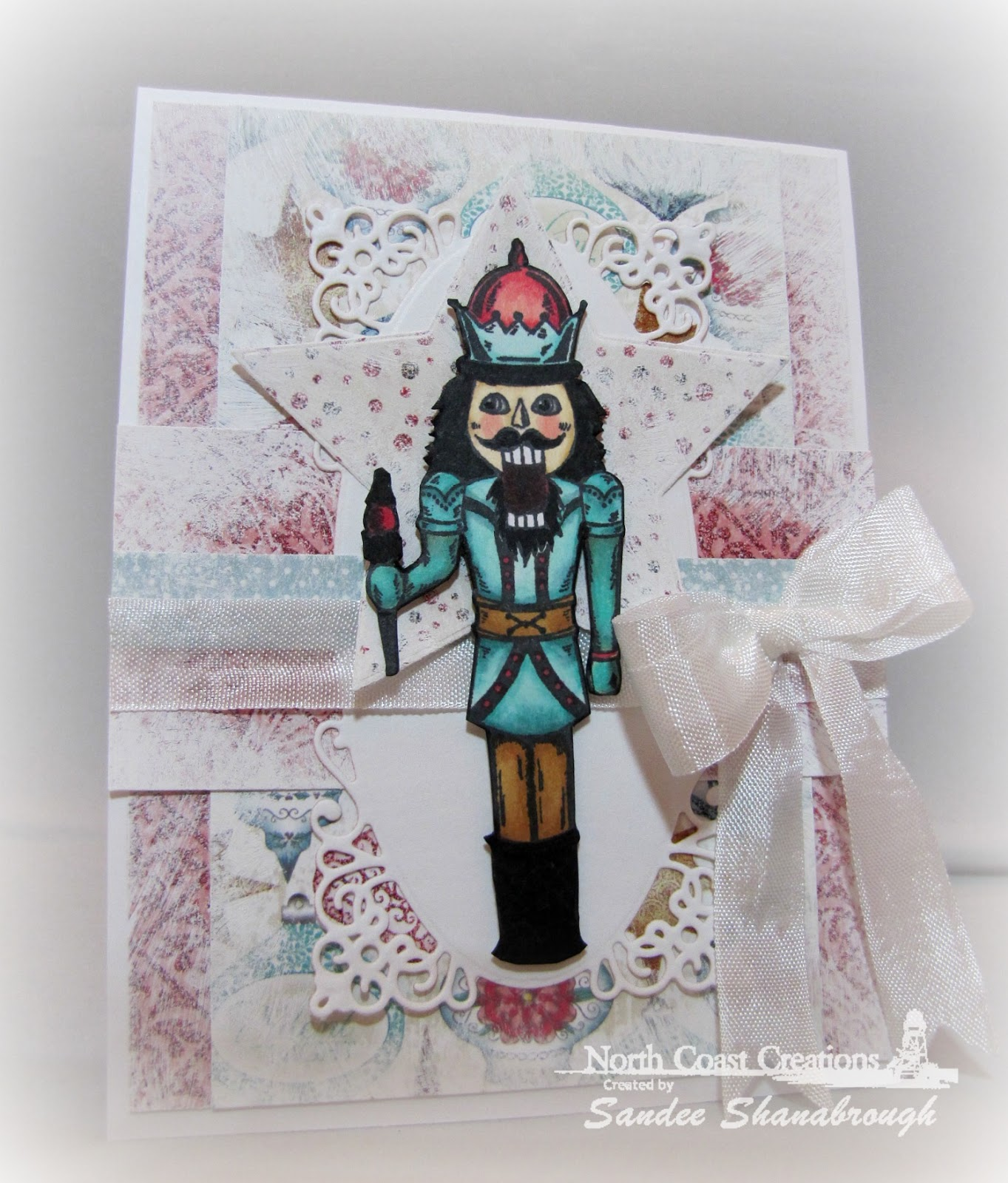 Stamps - North Coast Creations Nutcracker, ODBD Christmas Paper Collection 2014, ODBD Sparkling Stars Dies