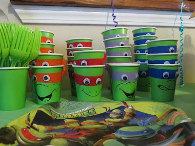 ninja turtle cups