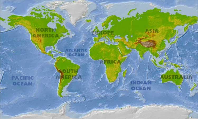 World Map Map Photos - Physical world map