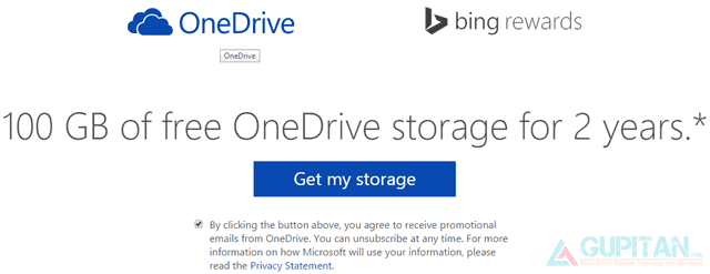 Dapatkan 100GB Cloud Storage dari OneDrive Gratis