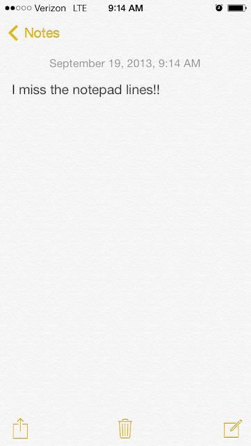 apple iOS notes app