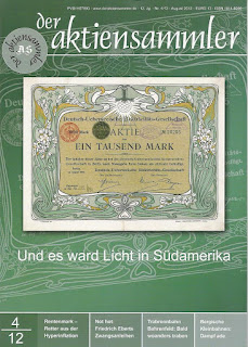 Front cover of the magazine der aktiensammler