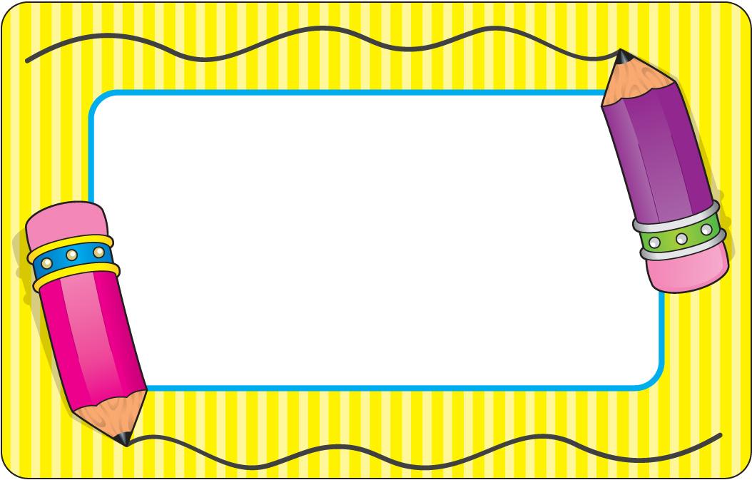 School Pencil Clip Art Borders