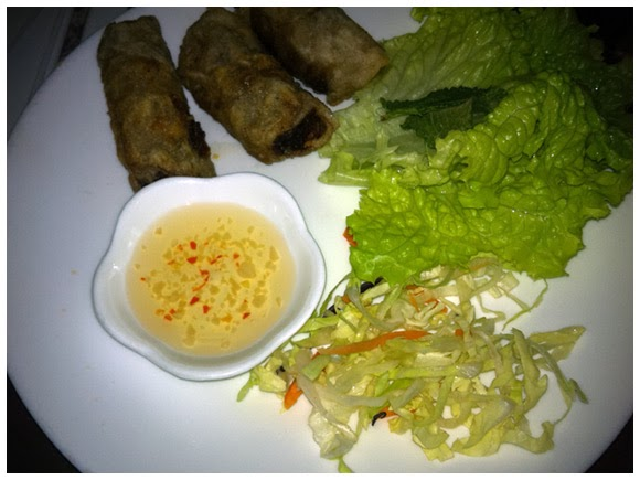 Egg rolls at comptoir, Geneva, Switzerland
