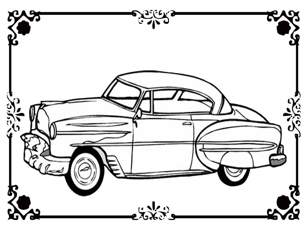 Free Printable Classic Car Coloring Kids Realistic