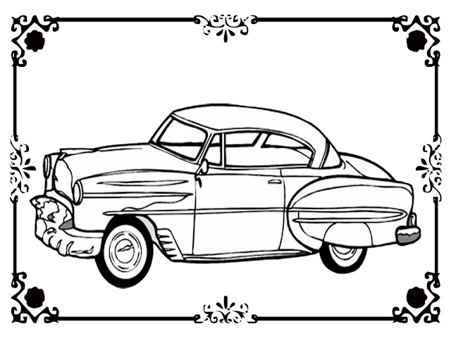 real cars coloring pages - free printable classic car coloring kids realistic