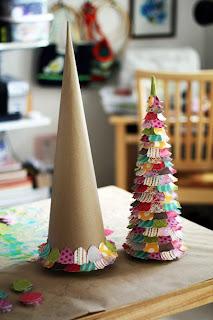 Enfeites de Natal Para fazer na escola | Pinheirinho
