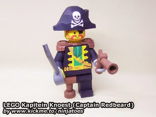 LEGO Papercraft Kapitein Knoest (Captain Redbeard)