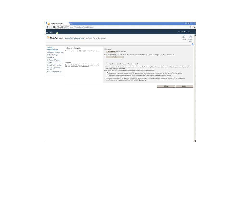 template xsn sharepoint developer to upload form template xsn in infopath 2010