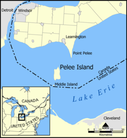 Point Pelee cuspate foreland location