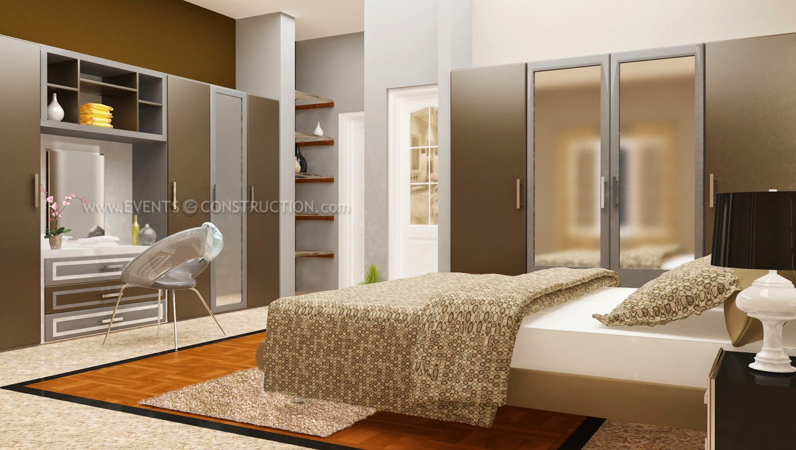 Evens construction pvt ltd bedroom interior design for 4 door wardrobe interior designs