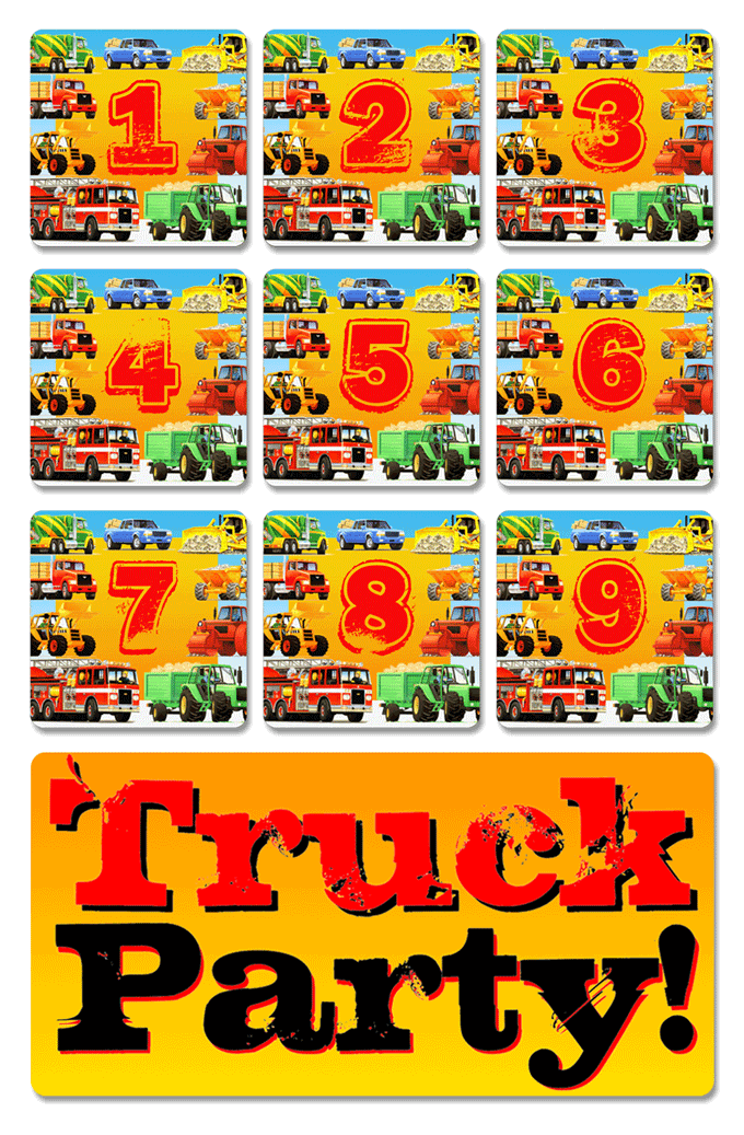 truck birthday, truck party, truck themed, truck theme, kids party, truck birthday party,