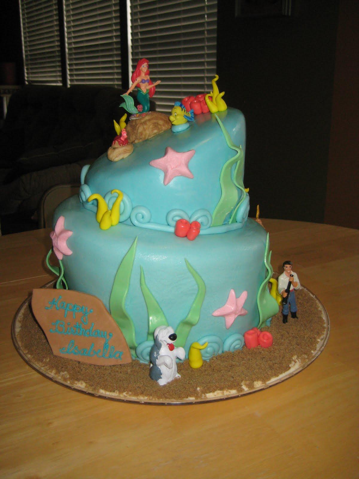 Treats By Christi Topsy Turvy Little Mermaid Ariel Cake