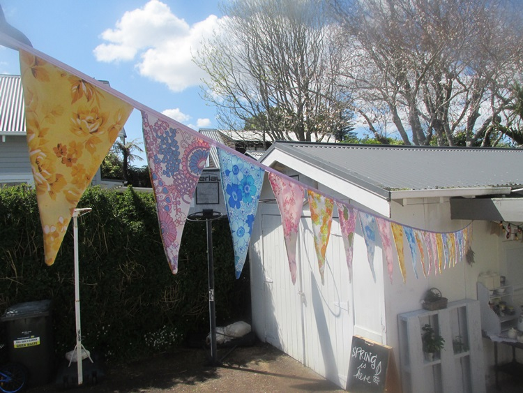 Vintage Bunting on a Spring Day makes it a party