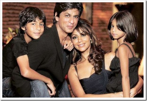 Family photo of the actor, married to Gauri Khan, famous for My Name Is Khan &  There May Or May Not Be A Tomorrow.